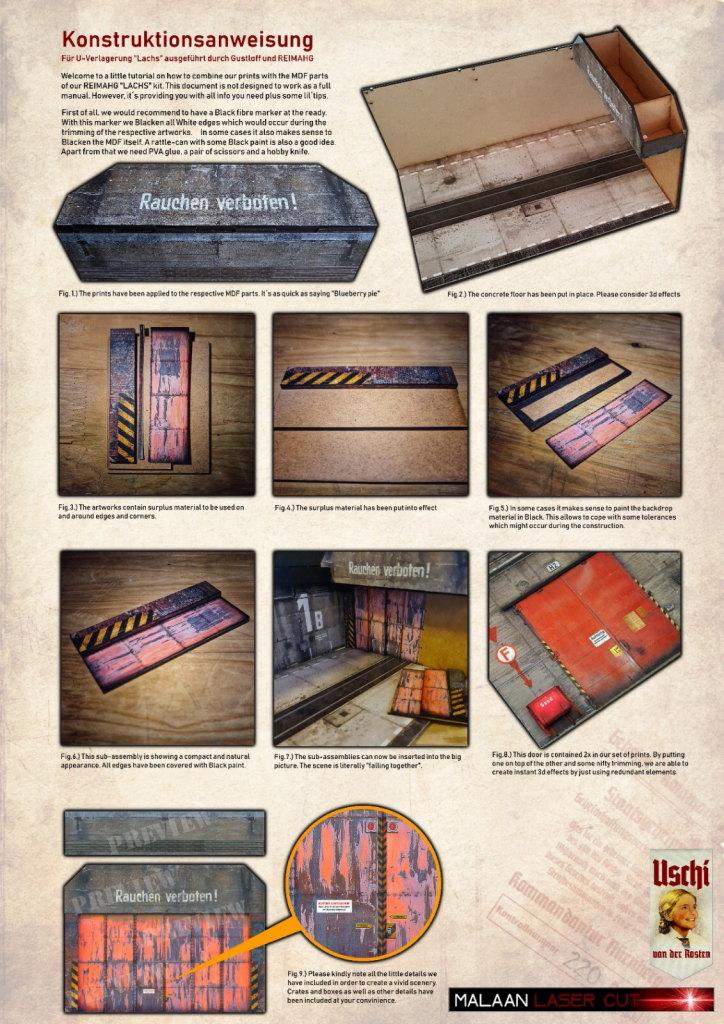 "Review_ReimaHG_18 ReimaHG – Werk ""Lachs"", Lasercut Editon (Uschi van der Rosten & Malaan Lasercut), Maßstab 1:72, #5001"