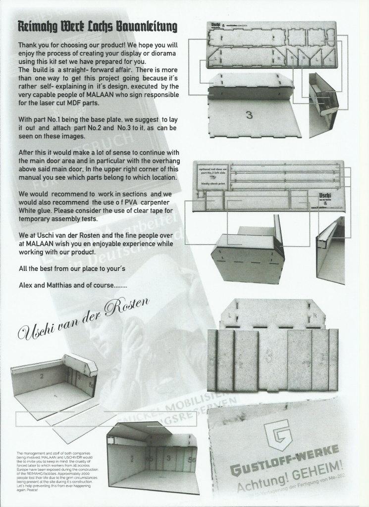 "Review_ReimaHG_19 ReimaHG – Werk ""Lachs"", Lasercut Editon (Uschi van der Rosten & Malaan Lasercut), Maßstab 1:72, #5001"