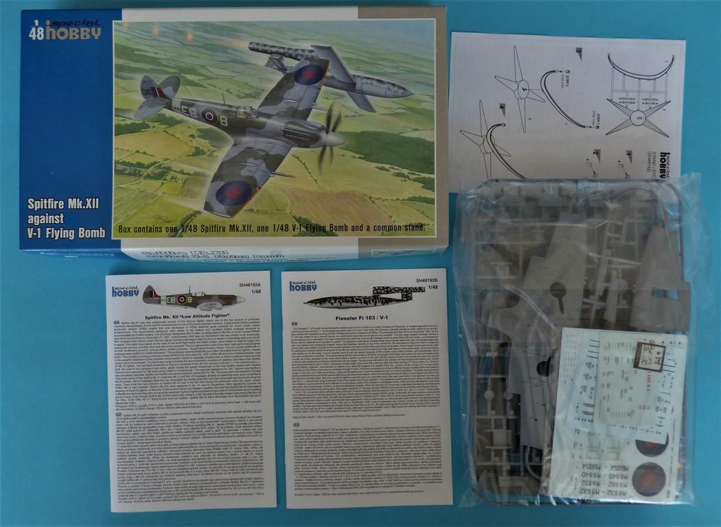 Special-Hobby-48192-Spitfire-Mk.-XII-V1-2 Special Hobby Spitfire Mk.XII against V-1 Flying Bomb # 48192
