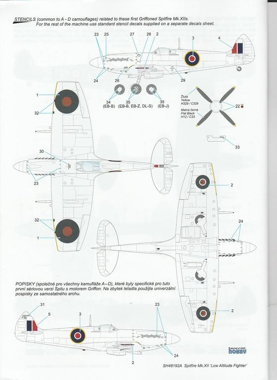 Special-Hobby-48192-Spitfire-Mk.-XII-V1-68 Special Hobby Spitfire Mk.XII against V-1 Flying Bomb # 48192