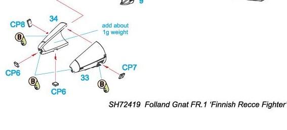 Special-Hobby-SH-72419-Folland-Gnat-FR.-I-Finnish-Recce-Bauanleitung-3-Kopie Folland Gnat FR.1 Finnish Recce Fighter in 1:72 von Special Hobby #SH 72419