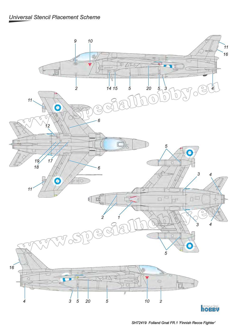 Special-Hobby-SH-72419-Folland-Gnat-FR.-I-Finnish-Recce-Bauanleitung-7 Folland Gnat FR.1 Finnish Recce Fighter in 1:72 von Special Hobby #SH 72419