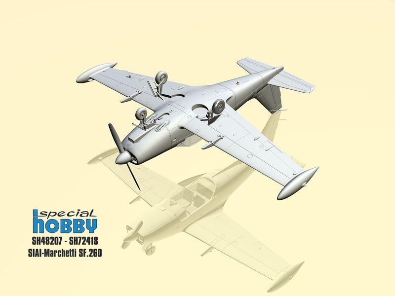 Special-Hobby-SIAI-Marchetti-SF-260-3 SIAI Marchetti SF 260 in 1:72 und 1:48 von Special Hobby