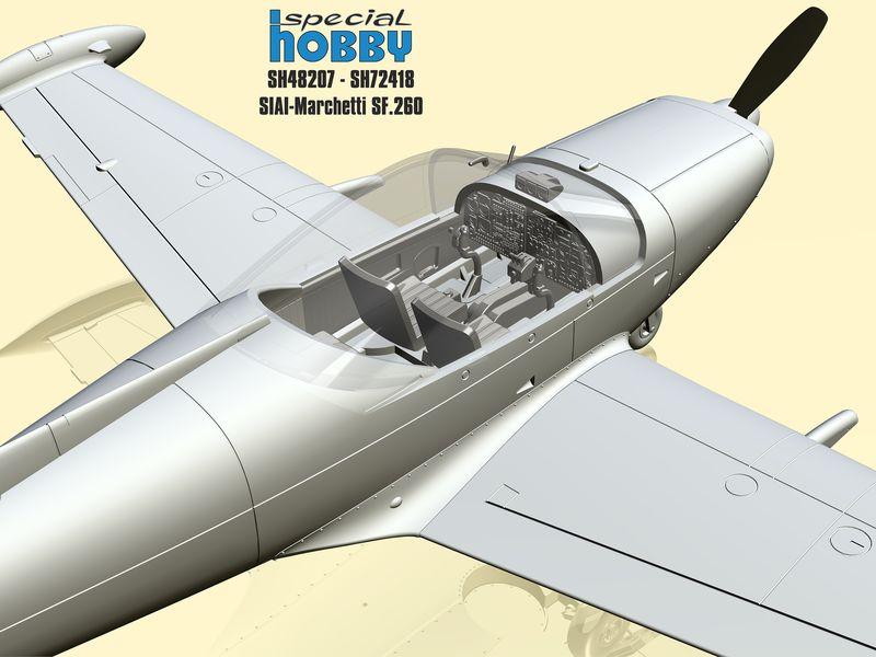 Special-Hobby-SIAI-Marchetti-SF-260-4 SIAI Marchetti SF 260 in 1:72 und 1:48 von Special Hobby