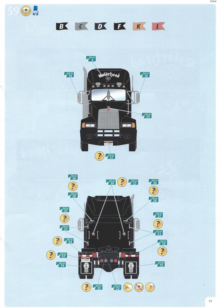 Anleitung19-1 Motörhead Tour Truck 1:32 Revell #07654