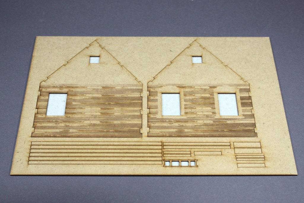 Bild-2 Zwei Russische Bauernhäuser - 1/35 - Style-Design - Art.Nr. MB-0013