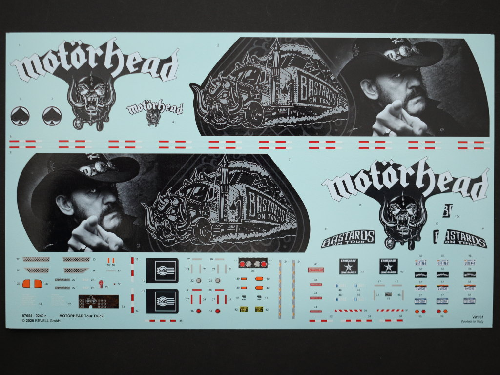 Decals-1 Motörhead Tour Truck 1:32 Revell #07654