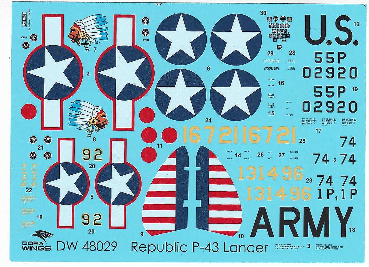 DoraWings-48029-Republic-P-43-Lancer-49 Republic P-43 Lancer in 1:48 von Dora Wings # 48029