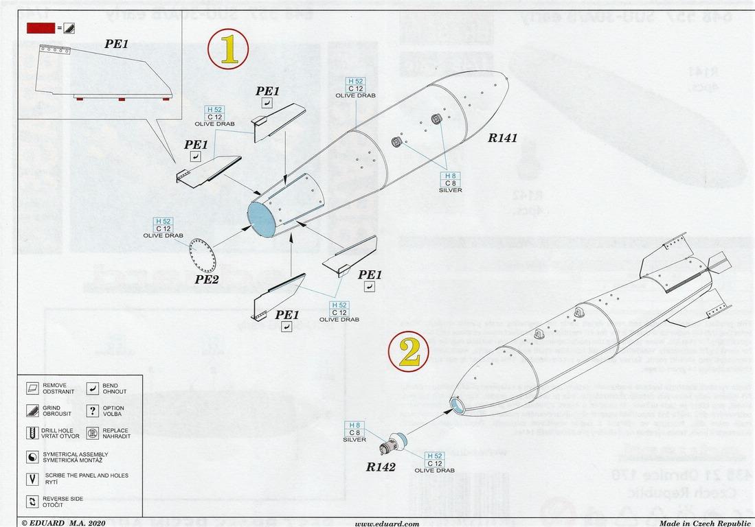 Eduard-648557-SUU-30AB-13 SUU-30 A/B Abwurfbehälter von Eduard #648557