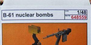 B-61 Nuclear Bomb in 1:48 von Eduard #648559