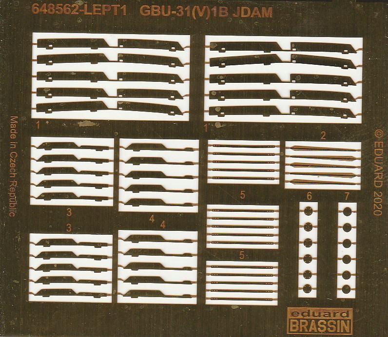Eduard-648562-GBU-31-11 GBU-31(V)1B JDAM-Bombe in 1:48 von Eduard #648562