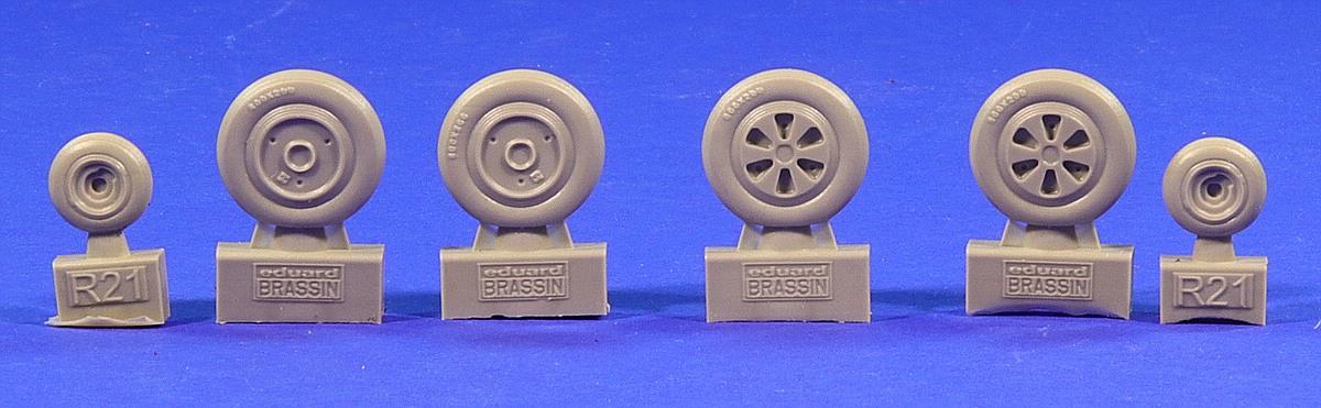 Eduard-672182-MiG-21-MF-Reifen-3 MiG-21MF Wheels in 1:72 von Eduard # 672182