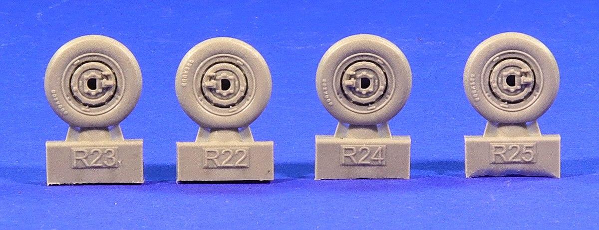 Eduard-672182-MiG-21-MF-Reifen-4 MiG-21MF Wheels in 1:72 von Eduard # 672182