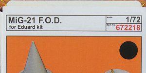MiG-21 FOD in 1:72 von Eduard # 672218