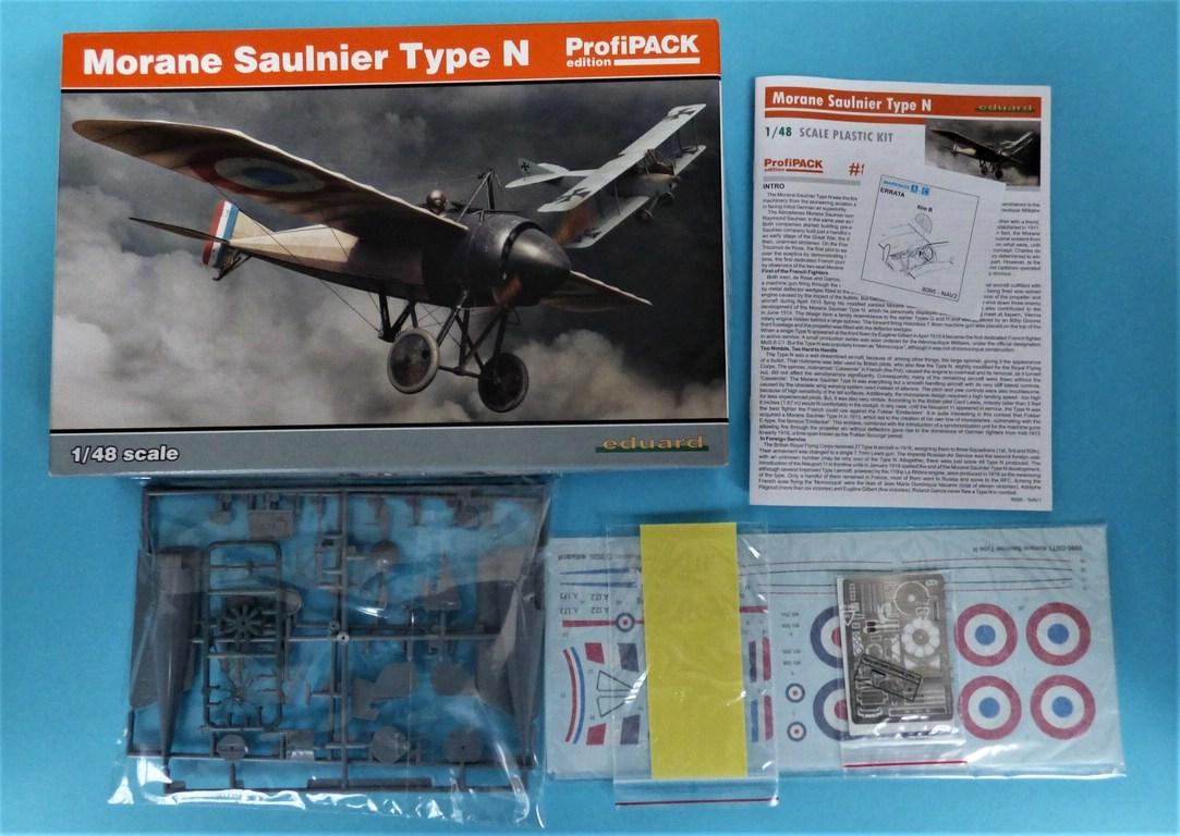 Eduard-8095-Morane-Saulnier-Type-N-3 Morane Saulnier Type N im Maßstab 1:48 ProfiPack von Eduard #8095