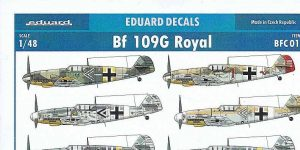 Eduard Decals Bf 109 G Royal in 1:48 #BFC015