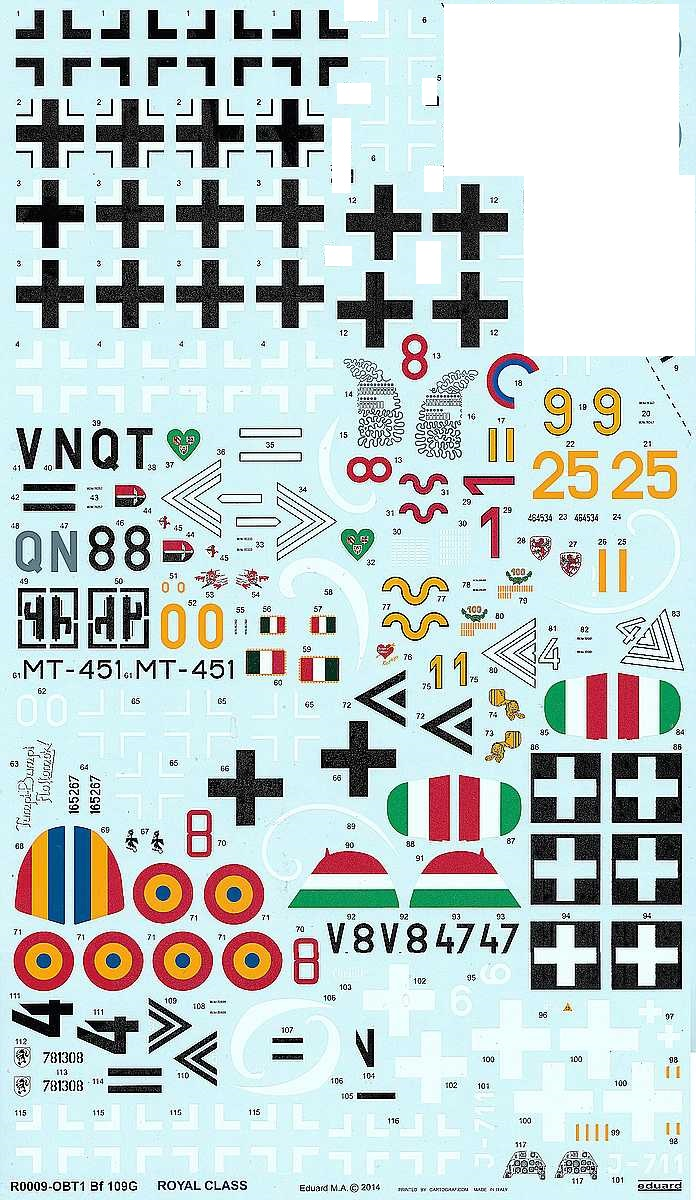 Eduard-BFC-015-Bf-109G-Royal-Decals-2 Eduard Decals Bf 109 G Royal in 1:48 #BFC015
