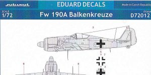 FW 190A Balkenkreuze in 1:72 von Eduard # D72012