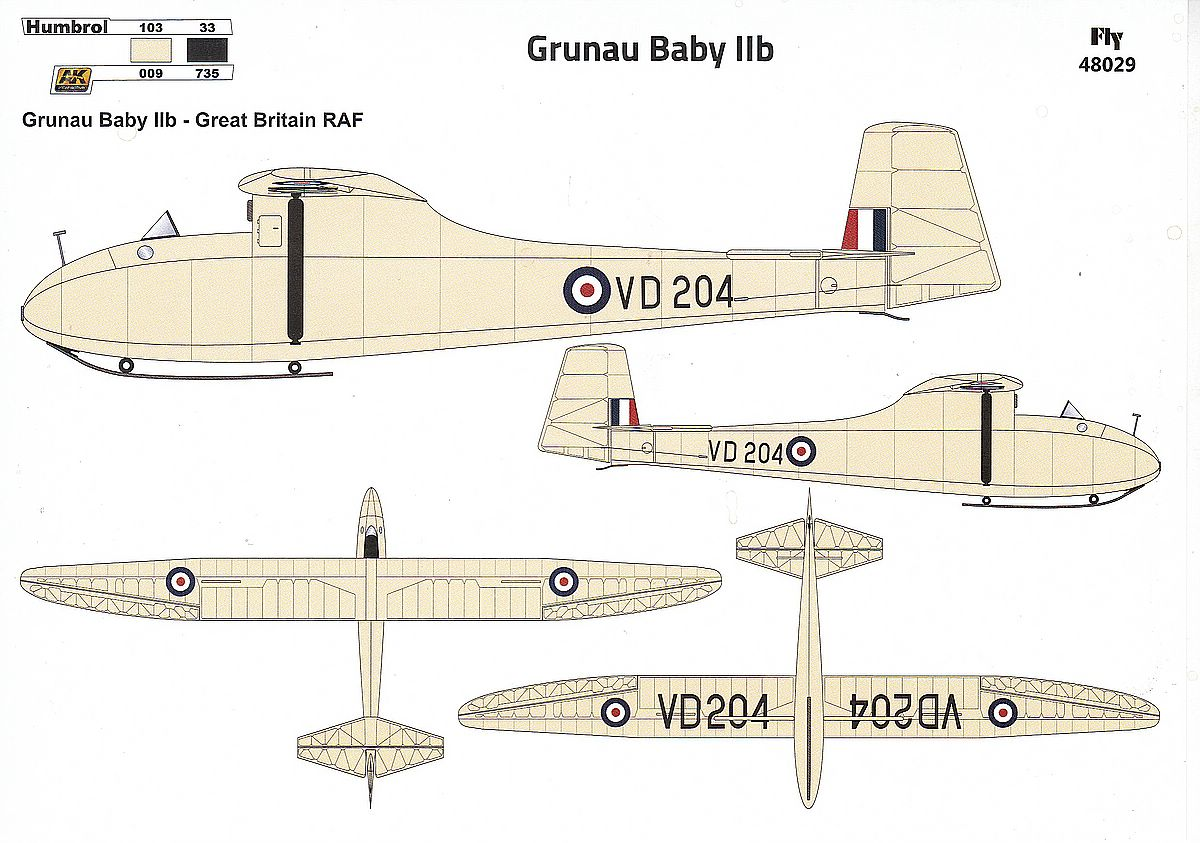 FLY-48029-Grunau-Baby-IIb-6 Grunau Baby IIb in 1:48 von FLY #48029