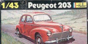 Kit-Archäologie: Peugeot 203 in 1:43 von Heller #160