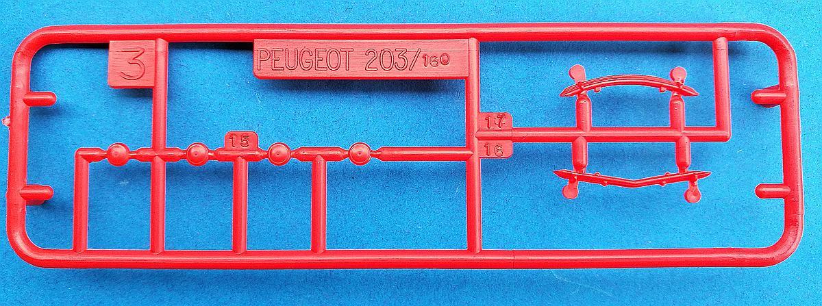 Heller-160-Peugeot-203-1zu43-12 Kit-Archäologie: Peugeot 203 in 1:43 von Heller #160
