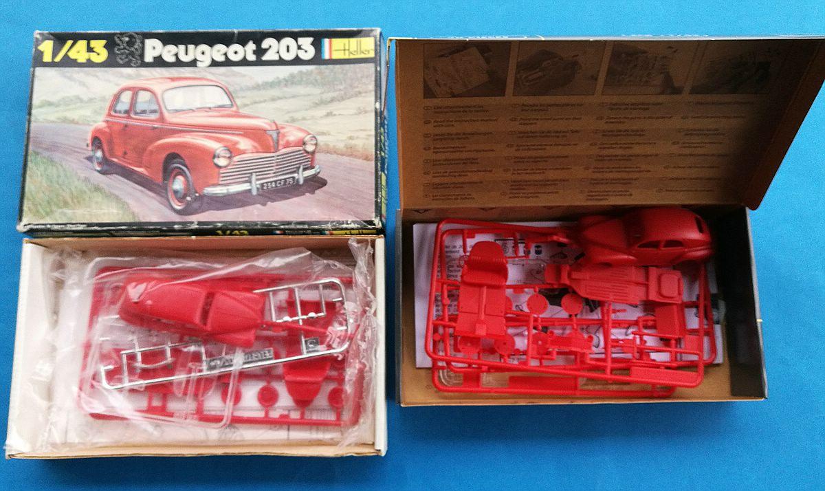 Heller-160-Peugeot-203-1zu43-3 Kit-Archäologie: Peugeot 203 in 1:43 von Heller #160