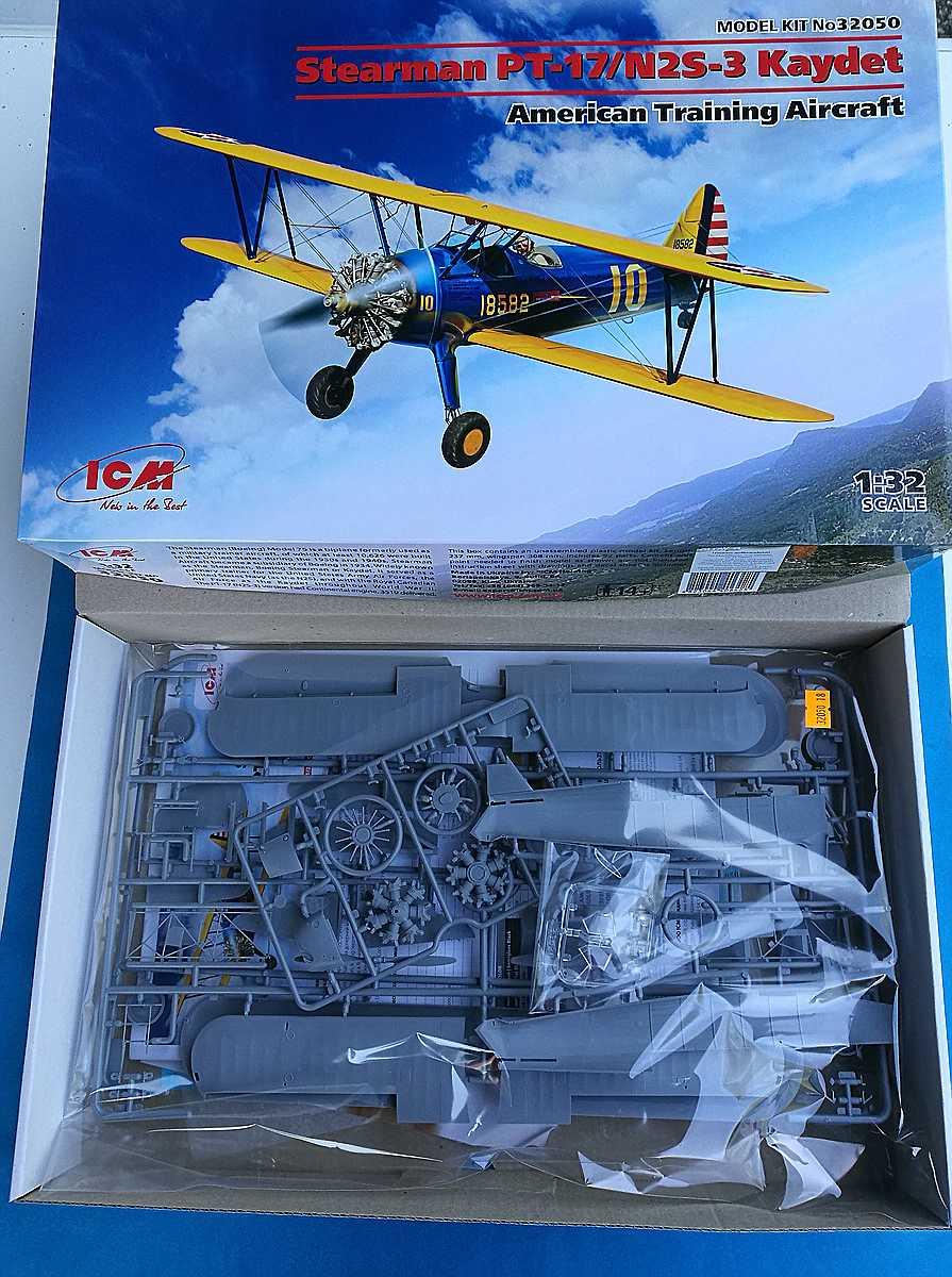 ICM-32050-Stearman-PT-17-1 Stearman PT-17 Kaydet in 1:32 von ICM #32050