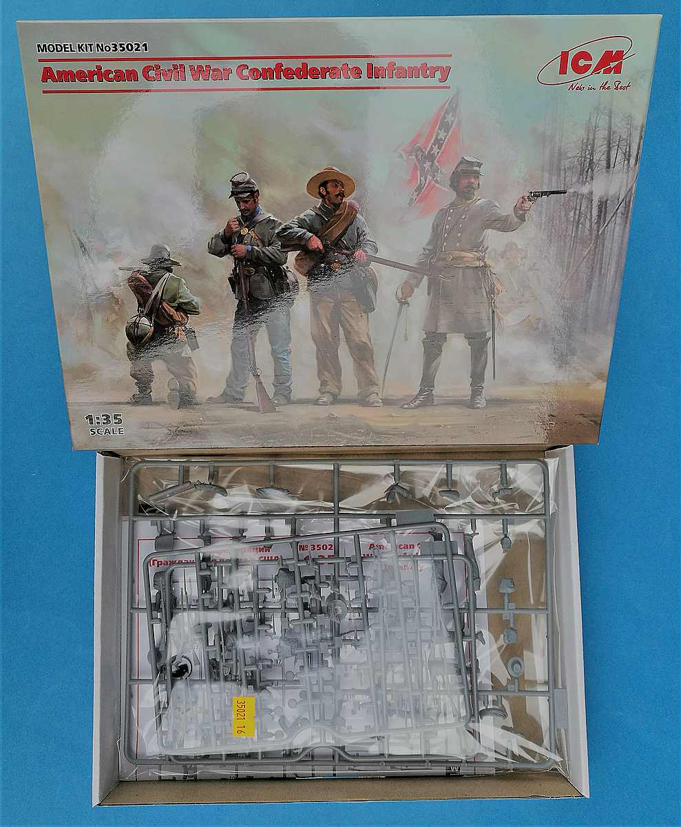 ICM-35021-American-Civil-War-Confederate-Infantry-4 Confederate Infantry in 1:35 von ICM # 35021
