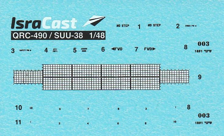 IsraCast-48045-QRC-490-Massive-Chaff-Dispenser-8 QRC-490 Massive Chaff Dispenser von IsraCast in 1:48 #IC 48045