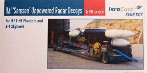 """IMI """"Samson"""" Unpowered Radar Decoys von IsraCast in 1:48 #IC 48051"""