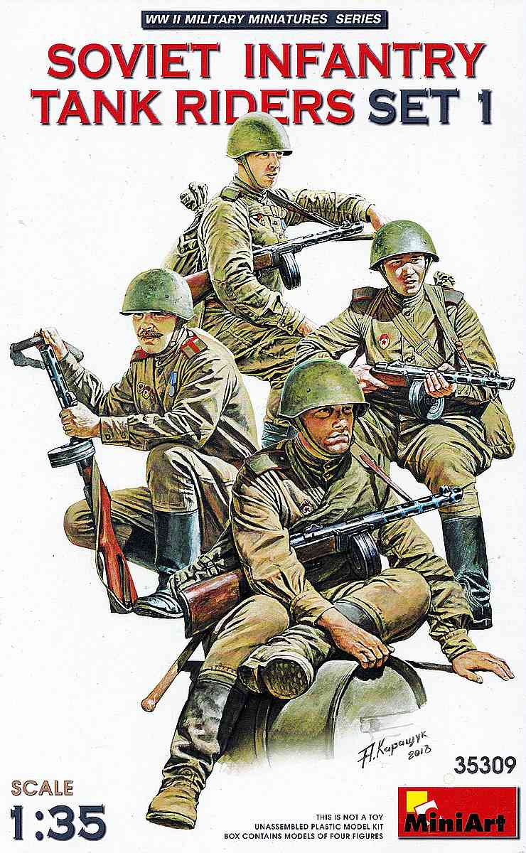 MIniArt-35309-Soviet-Tank-Riders-1-1 Soviet Tank Riders in 1:35 von MiniArt #35309 und 35310