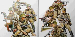 Soviet Tank Riders in 1:35 von MiniArt #35309 und 35310