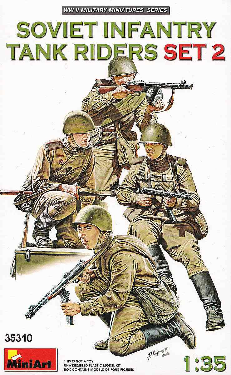 MiniArt-35310-Soviet-Tank-Riders-2-1 Soviet Tank Riders in 1:35 von MiniArt #35309 und 35310