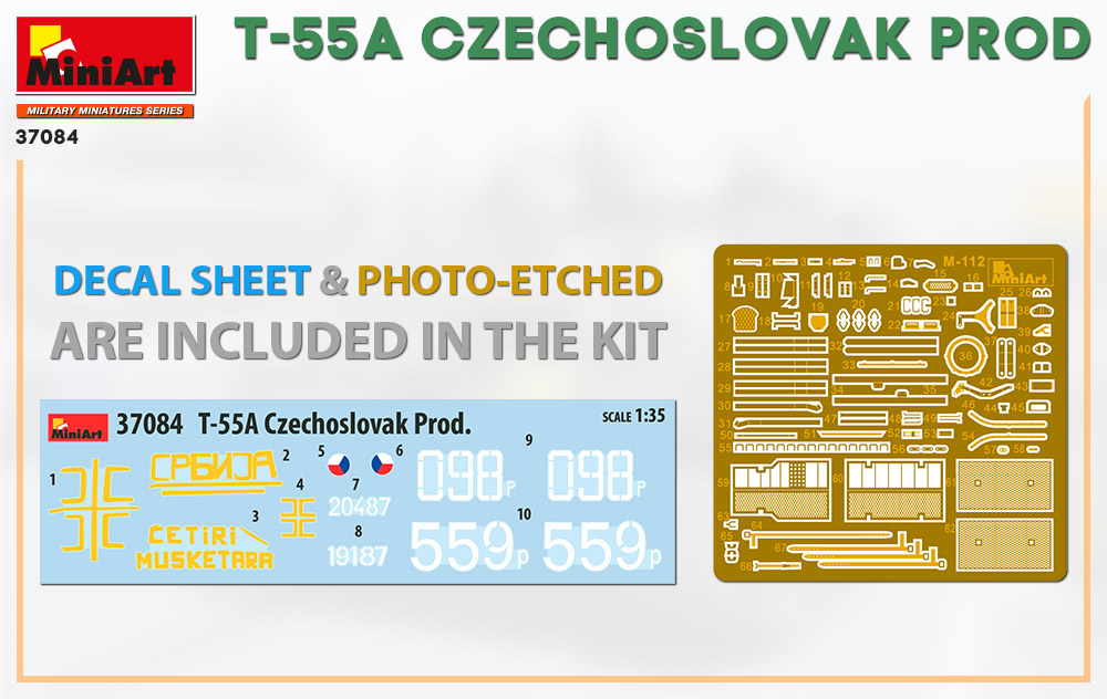 MiniArt-37084-T-55A-Czechoslovak-Production-2 Demnächst: T-55A Czechoslovak Production 1:35 von MiniArt