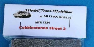 Cobblestone Street in 1:72 von ModellTrans # MTR 7224
