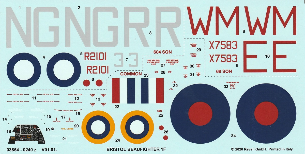 Revell-03854-Bristol-Beaufighter-IF-Nightfighter-52 Bristol Beaufighter IF Nightfighter in 1:48 von Revell #03854