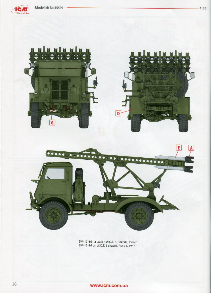 Review_ICM_BM13_WOT_74 BM-13-16 on W.O.T. 8 Chassis (WWII Soviet MLRS) - ICM 1/35