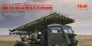 BM-13-16 on W.O.T. 8 Chassis (WWII Soviet MLRS) – ICM 1/35