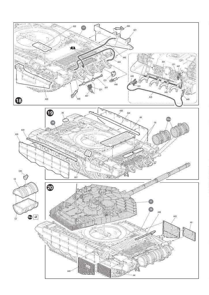Review_Zvezda_T90MS_35 T-90MS Russian Main Battle Tank - Zvezda 1/72