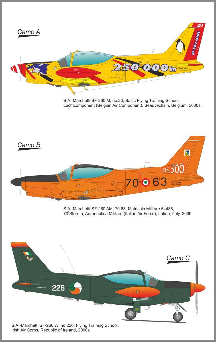 SH72418-SIAI-SIAI-Marchetti-SF-260-13 SIAI Marchetti SF 260 M/AM/W in 1:72 von Special Hobby
