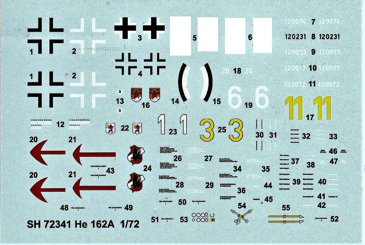 Special-Hobby-SH-72341-He-162A-Decals Heinkel He 162A in 1:72 von Special Hobby # SH 72341
