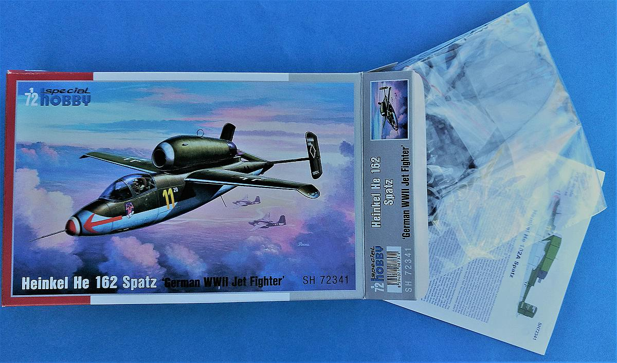 Special-Hobby-SH-72341-He-162A-Kartoninhalt Heinkel He 162A in 1:72 von Special Hobby # SH 72341