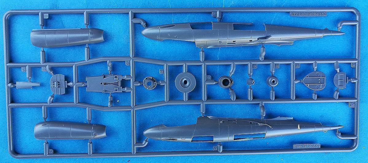 Special-Hobby-SH-72341-He-162A-Rumpf Heinkel He 162A in 1:72 von Special Hobby # SH 72341