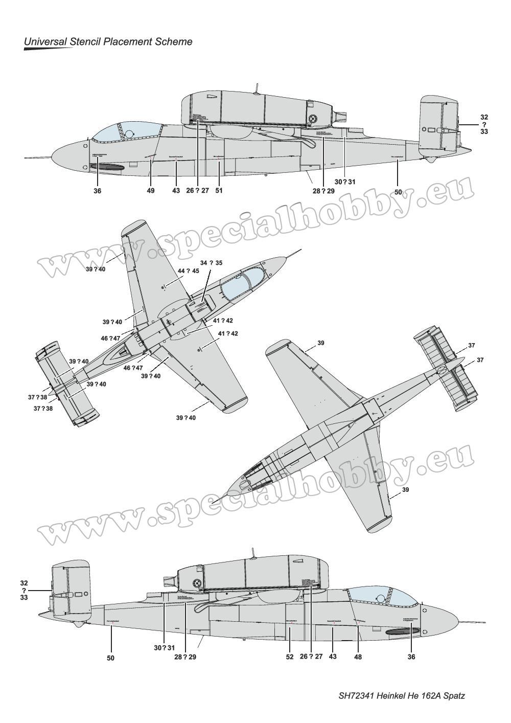 Special-Hobby-SH-72341-Heinkel-He-162-11 Heinkel He 162A in 1:72 von Special Hobby # SH 72341