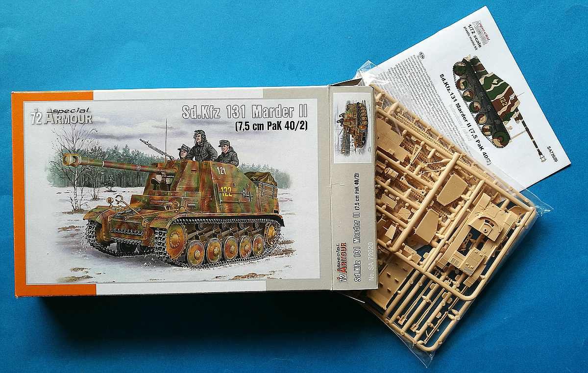 SpecialArmour-SA-72020-SdKfz-131-Marder-II-1 Sd.Kfz 131 Marder II in 1:72 von Special Armour # 72020