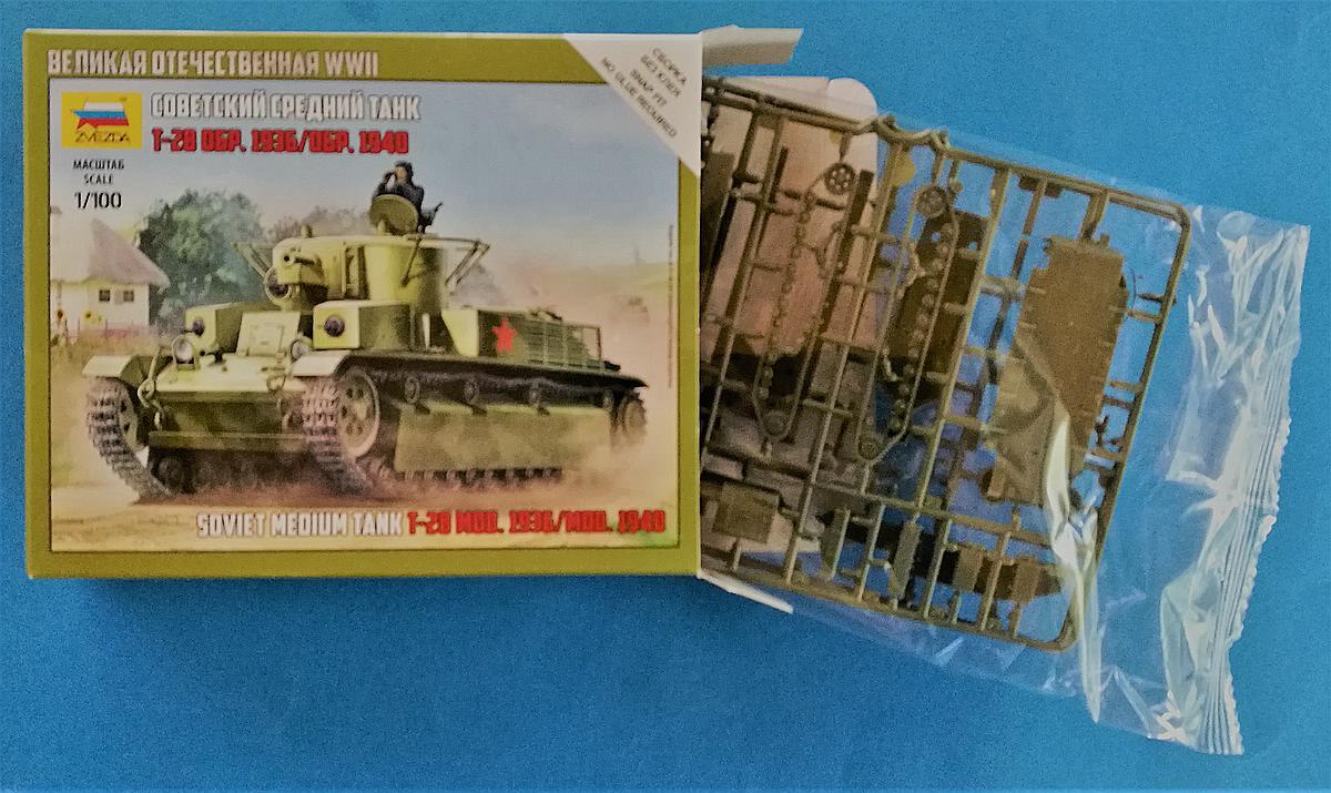 Zvezda-6247-T-28-1zu100-3 T-28 in 1:100 von Zvezda # 6247