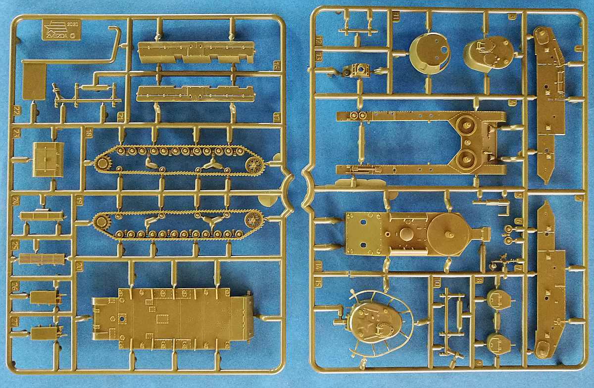 Zvezda-6247-T-28-1zu100-4 T-28 in 1:100 von Zvezda # 6247