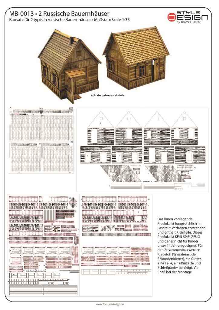 small_0 Zwei Russische Bauernhäuser - 1/35 - Style-Design - Art.Nr. MB-0013