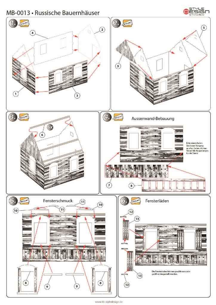 small_1 Zwei Russische Bauernhäuser - 1/35 - Style-Design - Art.Nr. MB-0013