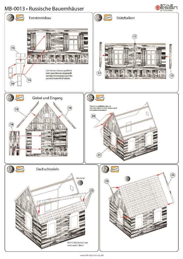 small_2 Zwei Russische Bauernhäuser - 1/35 - Style-Design - Art.Nr. MB-0013